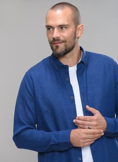 People By Fabrika Düğmeli Yaka Gömlek İndigo